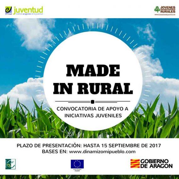 Cartel difusión convocatoria made in rural